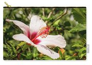Pink And Red Hibiscus Carry-all Pouch