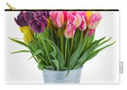 Pink And Violet  Tulips Carry-all Pouch