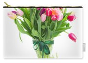 Pink And Violet Tulips Bouquet  Carry-all Pouch