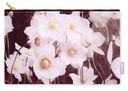 Pink And White Anemones Carry-all Pouch