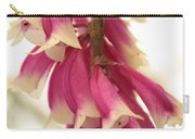 Pink And White Bells Carry-all Pouch