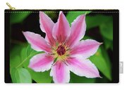 Pink And White Clematis Carry-all Pouch