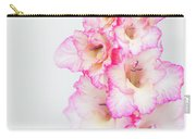 Pink And White Gladiola Carry-all Pouch