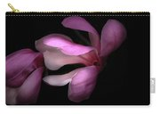 Pink And White Magnolia In Silhouette Carry-all Pouch