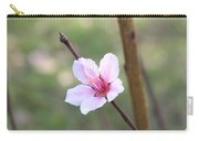 Pink And White Nectarine Blossom Carry-all Pouch