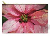 Pink And White Poinsettia Carry-all Pouch