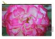 Pink And White Rose Square Carry-all Pouch