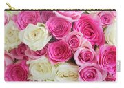 Pink And White Roses Bunch Carry-all Pouch