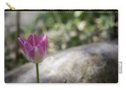 Pink And White Tulip 02 Carry-all Pouch