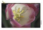 Pink And White Tulip Center Squared 2 Carry-all Pouch