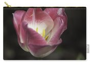 Pink And White Tulip Squared 2 Carry-all Pouch