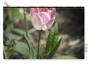 Pink And White Tulip Squared Carry-all Pouch