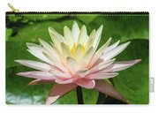 Pink And White Water Lily Carry-all Pouch
