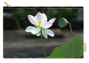 Pink And White Water Lily With Green Pod Carry-all Pouch