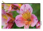 Pink And Yellow Flora Carry-all Pouch