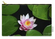 Pink And Yellow Lotus Waterlily Carry-all Pouch