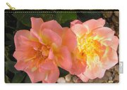 Pink And Yellow Roses Carry-all Pouch