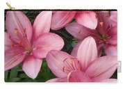 Pink Asiatic Lilies 2 Carry-all Pouch