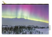 Pink Aurora Over Boreal Forest Carry-all Pouch