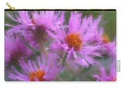 Pink Autumn Flowers Carry-all Pouch