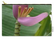 Pink Banana Flower Carry-all Pouch
