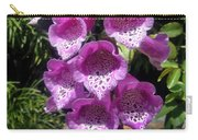 Pink Bell Flowers, Close-up. Foxglove 02 Carry-all Pouch