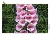 Pink Bell Flowers. Foxglove 01 Carry-all Pouch