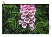 Pink Bell Flowers. Foxglove 02 Carry-all Pouch