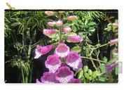 Pink Bell Flowers. Foxglove 03 Carry-all Pouch