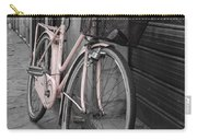 Pink Bicycle In Rome Carry-all Pouch