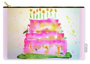Pink Birthday Cake Carry-all Pouch