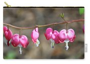 Pink Bleeding Hearts 2 Carry-all Pouch