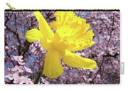Pink Blossom Spring Trees Yellow Daffodil Flower Baslee Troutman Carry-all Pouch