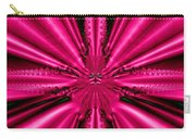 Pink Brocade Fabric Fractal 55 Carry-all Pouch