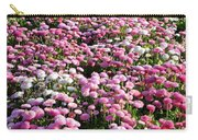 Pink Button Pom Flowers Carry-all Pouch