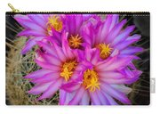 Pink Cactus Flowers Square  Carry-all Pouch