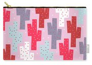 Pink Cactus Pattern Carry-all Pouch