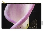 Pink Calla Lily With Butterfly Carry-all Pouch