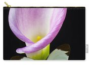 Pink Calla Lily With White Butterfly Carry-all Pouch