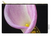 Pink Calla Lily With Yellow Butterfly Carry-all Pouch
