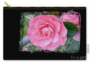 Pink Camellias With Fence And Framing Carry-all Pouch