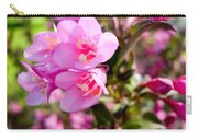 Pink Cardinal Bush Flowers Carry-all Pouch