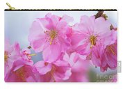 Pink Cherry Blossom Cluster Carry-all Pouch