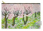 Pink Cherry Garden In Blossom Carry-all Pouch