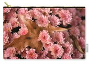 Pink Chrysanthemums With Pin Oak Leaf Carry-all Pouch