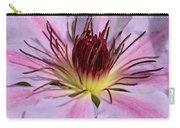 Pink Clematis Closeup Carry-all Pouch