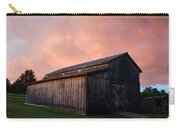 Pink Clouds Over Barn Carry-all Pouch