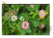 Pink Clover Flowers Carry-all Pouch