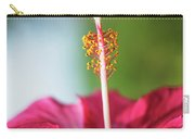 Pink Colored Hibiscus Closeup Image Carry-all Pouch