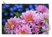 Pink Dahlias On Lobelia Carry-all Pouch